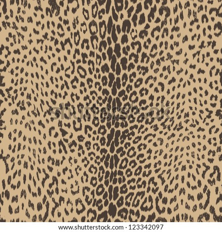 hot and sophisticated, leopard animal seamless skin - vector - stock vector