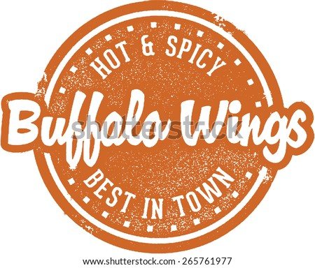 Hot and Spicy Buffalo Chicken Wings - stock vector