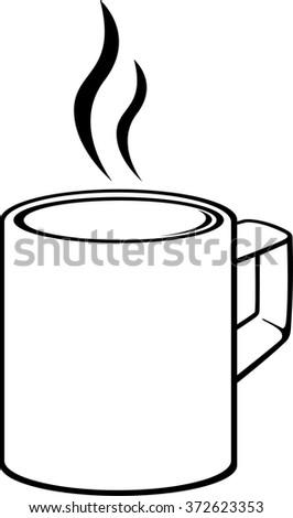 hot beverage mug - stock vector