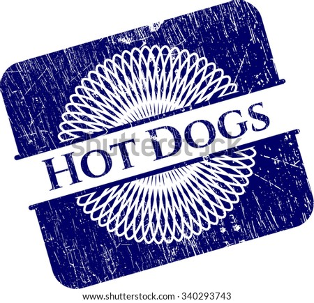 Hot Dogs grunge stamp - stock vector