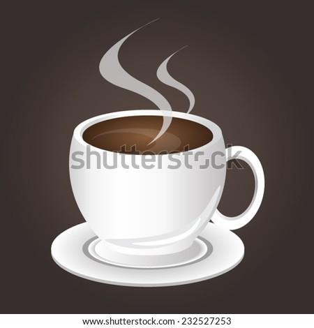 hot drink - stock vector