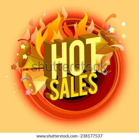 Hot sale design element. EPS 10 vector, grouped for easy editing. - stock vector