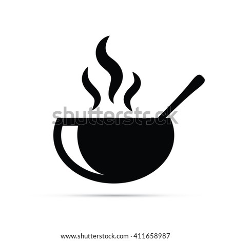 Hot Soup / Bowl of Food Icon - stock vector