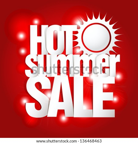 Hot Summer Sale Paper Folding Design  - stock vector