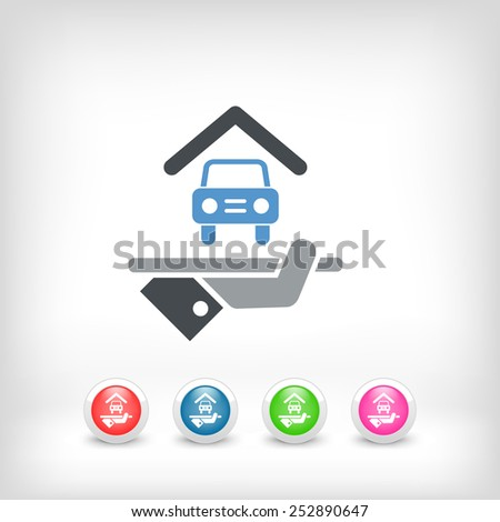 Hotel icon. Car parking. - stock vector
