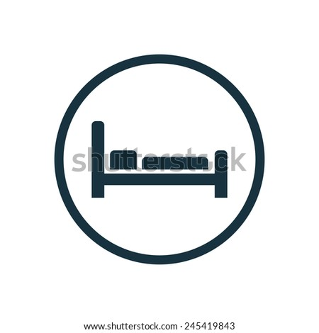 hotel icon on white background  - stock vector