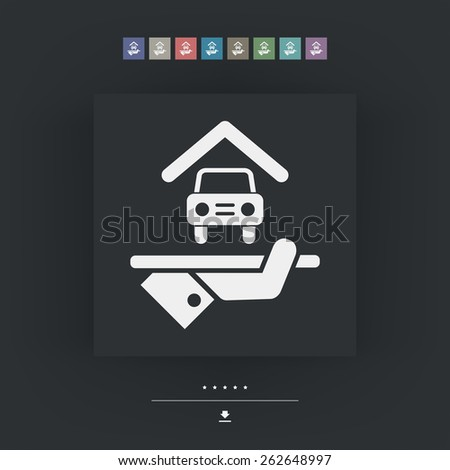 Hotel icon. Parking. - stock vector