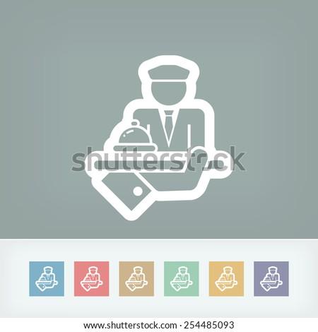 Hotel icon. Porter. - stock vector