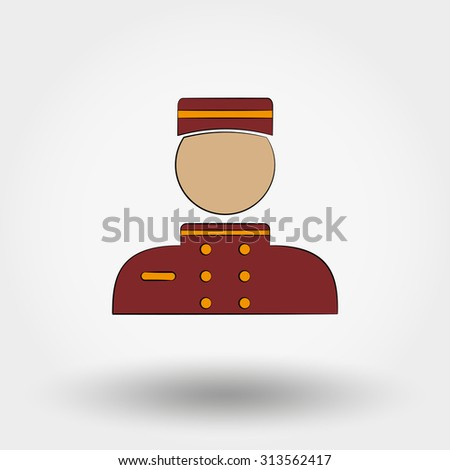 Hotel icon. Porter. Icon for web and mobile application. Vector illustration on a white background. - stock vector