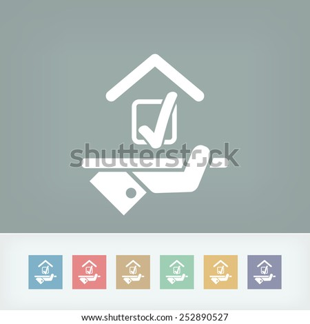 Hotel icon. Preference options. - stock vector