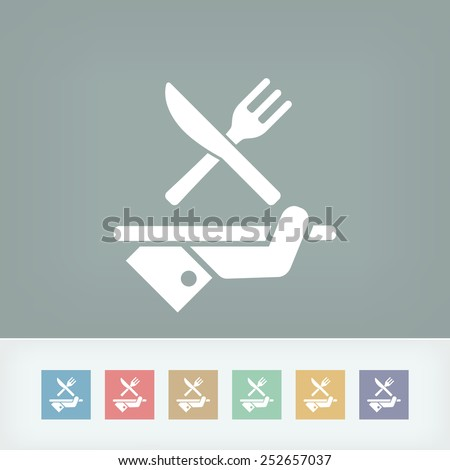 Hotel icons. Food. - stock vector