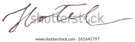 Hotel Tag Modern Brush Lettering Calligraphy Background Logotype. - stock vector
