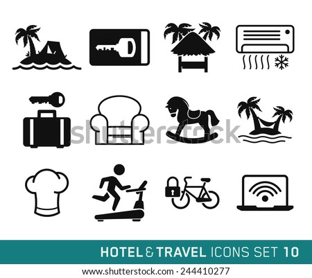 Hotel & Travel icons set // 10 - stock vector