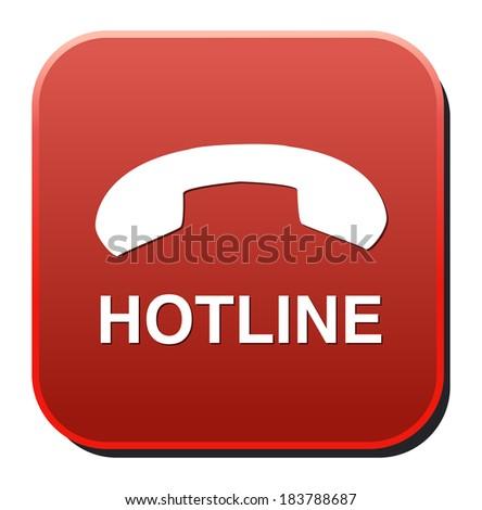 hotline button - stock vector