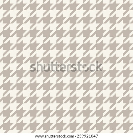 Hounds-tooth seamless vector pattern - stock vector