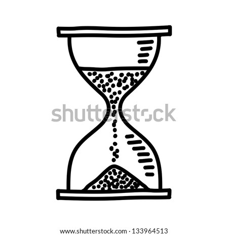Hourglass drawing - stock vector