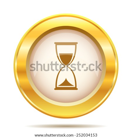 Hourglass icon. Internet button on white background. EPS10 vector.  - stock vector