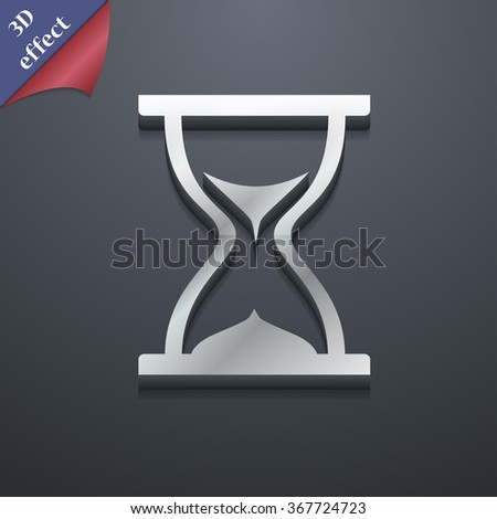 hourglass icon symbol. 3D style. Trendy, modern design with space for your text Vector illustration - stock vector