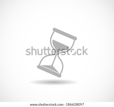 Hourglass icon vector - stock vector