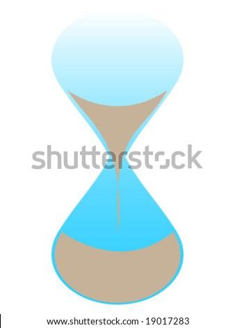 hourglass illustration - stock vector