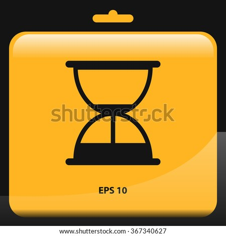 hourglass, sand clock icon for web and mobile - stock vector