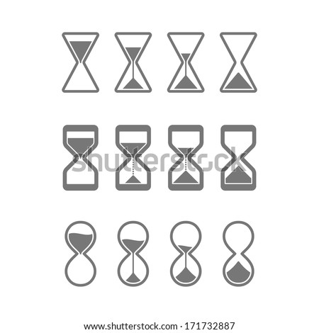 Hourglass, sandglass icons. Vector. - stock vector