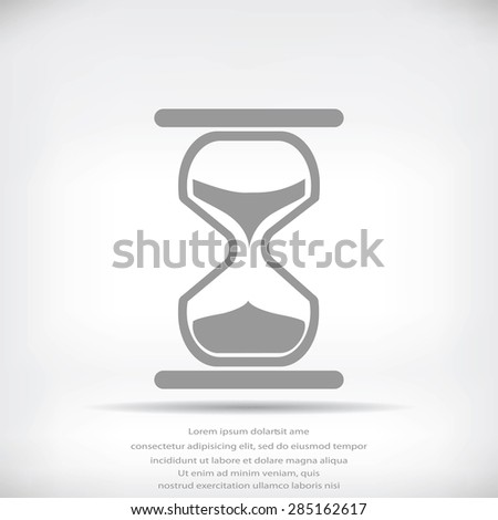 hourglass vector icon - stock vector