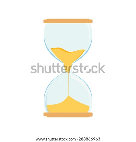 Hourglass vector icon. Sand watch. Sand glass. Sand clock - stock vector