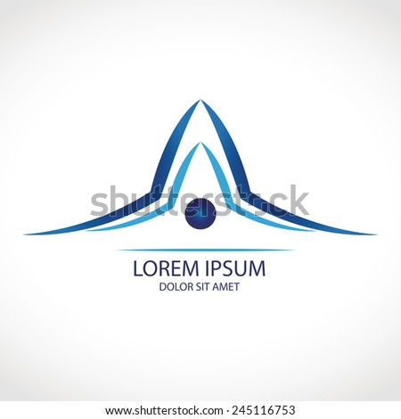 House abstract roof icon with concept design or logo for the building company art - stock vector