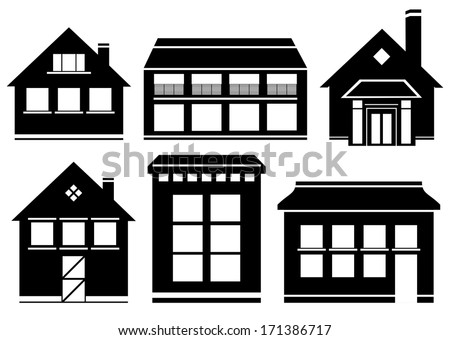Building Construction Clipart Black And White House And Building Black