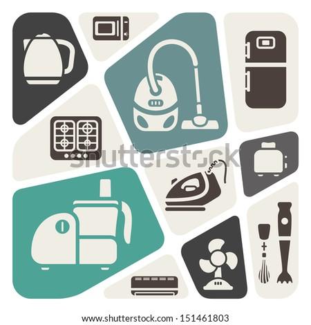 House appliances theme background - stock vector