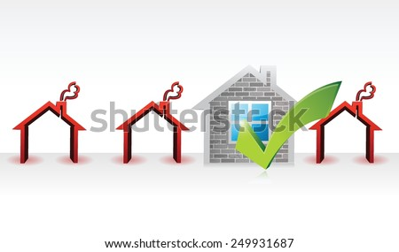 house approve or selected for purchase. illustration design over a white background - stock vector