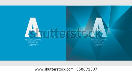House building logo for your company isolated. Vector Brochure Flyer design Layout template, Front page and back page, headline art. Easy to use and edit. - stock vector