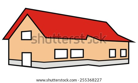 house, color - stock vector