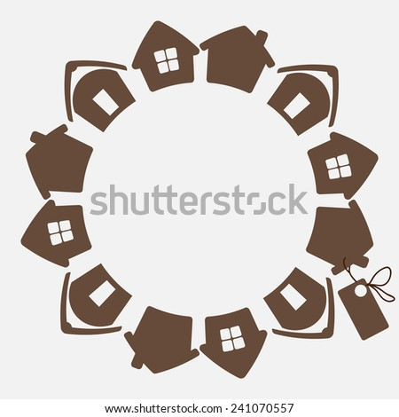 House concept. New house sale - stock vector