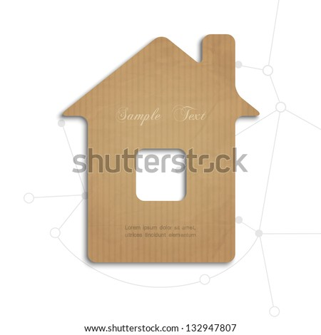 House cut out of cardboard.Concept vector illustration - stock vector