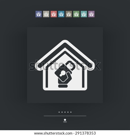 House defense - stock vector