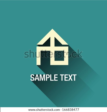 House design vector background  - stock vector