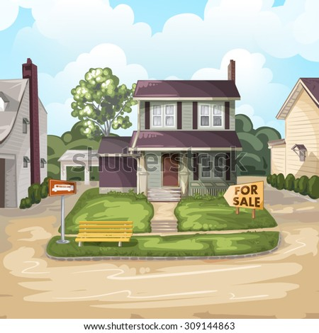 House for sale - stock vector