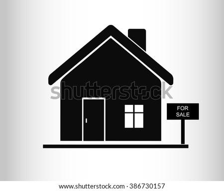 House for sale. Broker symbol. Vector. - stock vector