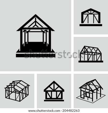 House frame - stock vector
