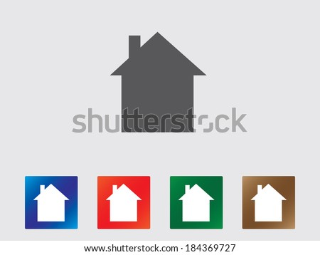 House icon illustration - stock vector