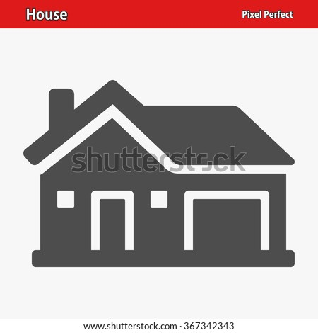 House Icon. Professional, pixel perfect icons optimized for both large and small resolutions. EPS 8 format. - stock vector