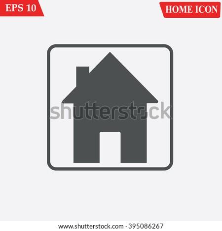 House icon vector  - stock vector