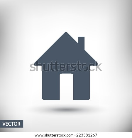 house icon, vector illustration. Flat design style - stock vector