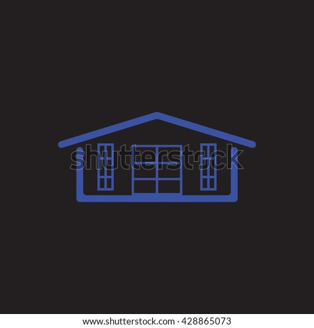 House Icon Vector Illustration.  House Icon Vector.  House Icon Illustration. Beautiful house on a black background. House Icon picture. House Icon - stock vector