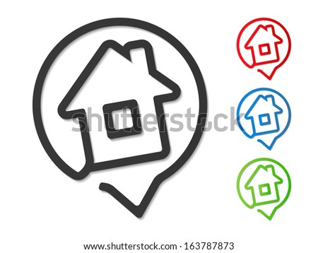 House icons, design elements for your logo, vector eps10 illustration - stock vector