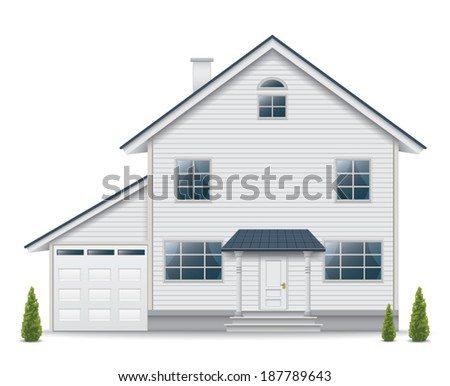 House isolated on white background - stock vector