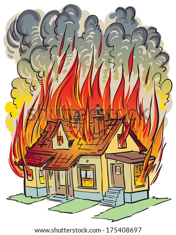 Burning House Stock Vectors & Vector Clip Art | Shutterstock