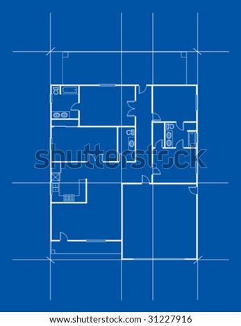 House Plan - stock vector